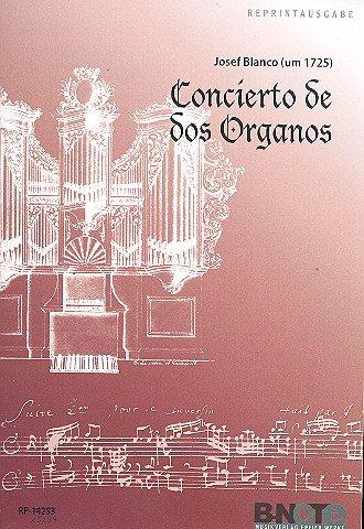 Concierto de dos organos spelpartitur reprint