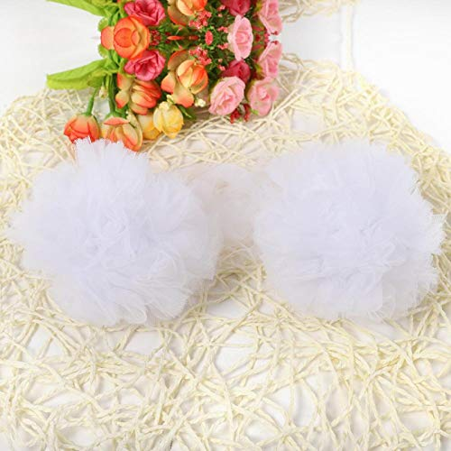 Bola de flores colgante de pared, decoración de bolas de flores, para colgante de habitación de niños(white)