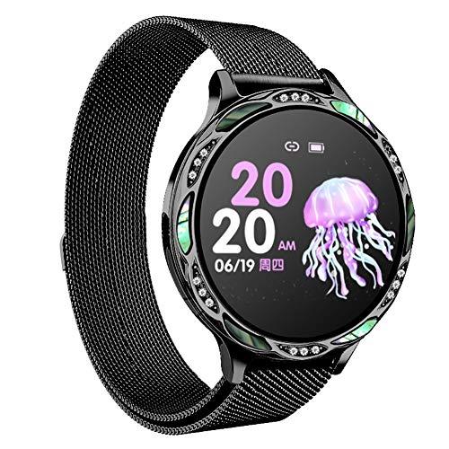 ZDY Smart Watch M9, Smartwatch Resistente al Agua IP68 para el período de la Mujer, rastreador de Actividad física con podómetro de Ritmo cardíaco y sueño, Pulsera para Android e iOS.