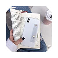 for Samsungギャラクシーj7プロj52017 2016 j8 j6 a8 a6j4プラスプライムj2コア2018ソフトケース用リストバンド電話ホルダーシリコンケース -Hand Band white-a8 plus 2018
