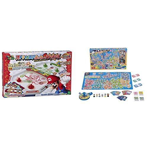 スーパーマリオ ストライクエアホッケー ATTACK & どこでもドラえもん日本旅行ゲーム5 62×0.2×40cm ABS【セット買い】
