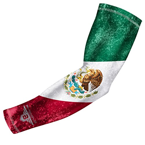 USA Mexico P. R. Flag - Manga de compresión para brazo de béisbol, para jóvenes y adultos