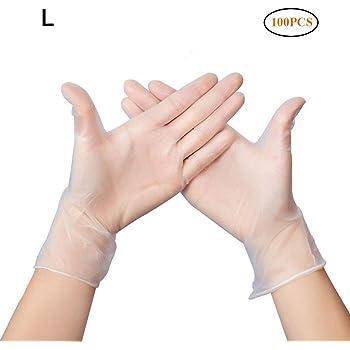 taglia unica. guanti sicuri per preparare picnic allaperto JAMSI 100 pezzi di guanti di plastica usa e getta