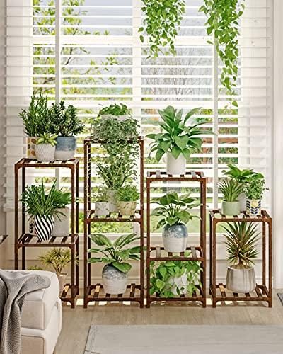 4 Sets of Package Plant Stands Indoor Outdoor Plants Stands for Living Room Balcony Garden
