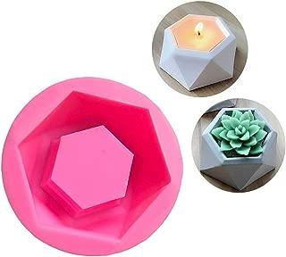 DIY Silicone Flower Pot Mold Diamond Shaped Molds for Candle Holder Making Succulent Plants Planter Pot Mould Concrete Moulds Color Random