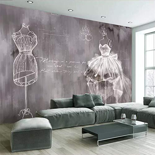 HGFJG Tapeten 3D-Fototapeten Gemälde Zement Weißer Schwan Brautkleider Herstellung Hintergrund Hintergrundpapier