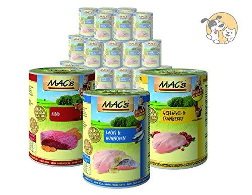 Mac´s Katze Sparpaket | 20 x 400g | Sorten frei wählbar | Nassfutter MACS | gratis Katzenspielzeug
