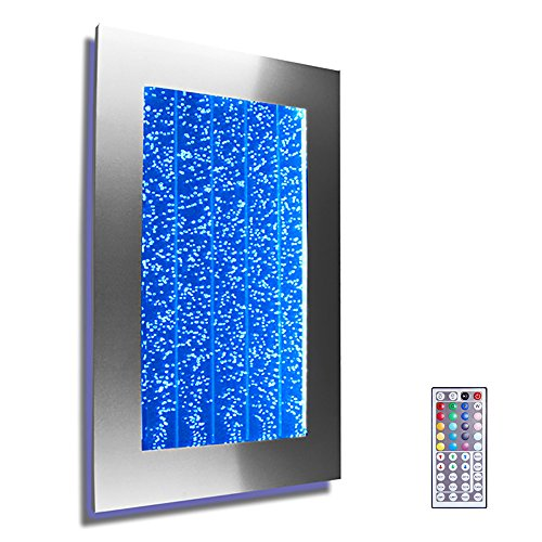 Wall Mount Hanging Bubble Wall Aquarium 30' LED Lighting Indoor Panel 300WM Water Fall Fountain Water Feature