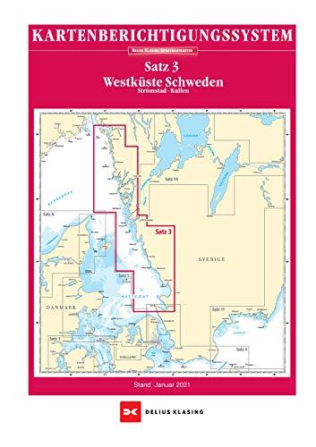 Berichtigung Sportbootkarten Satz 3: Westküste Schweden (Ausgabe 2021): Strömstad bis Kullen