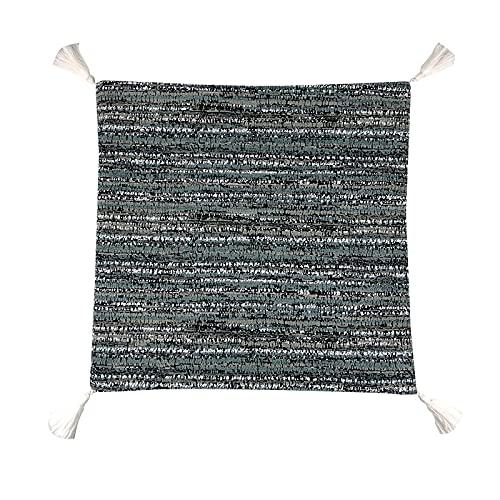 QMZ Fundas de Cojines Borla Textura Raya Funda de Almohada Cuadrada de Alta precisión 3 Piezas (sin núcleo) sofá Moderno Minimalista decoración Cintura Espalda 45 cm