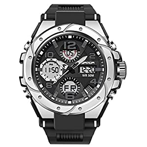 Men's Sports Watch, Classic Double Display Digital Watch, Multi-Functional Fashion Men's Wrist Watch