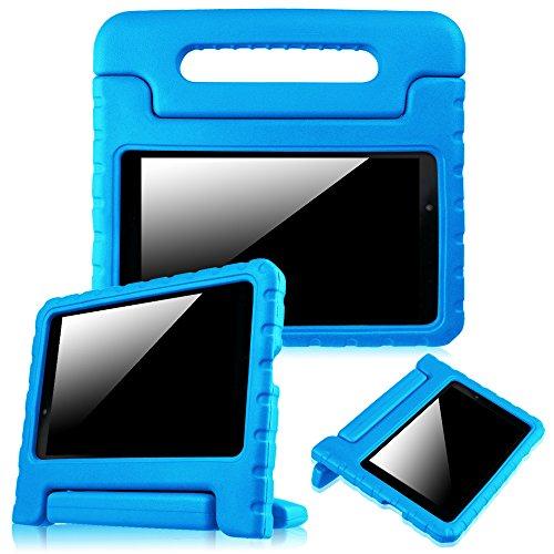 Fintie Kiddie Schutzhülle für LG G Pad F 8.0 II – stoßfester umwandelbarer Handgriff mit Ständer, kinderfre&lich, passend ATundT Modell V495 T-Mobile V496 US Cellular UK495 2 V498 20,3 cm Tablet, Blau