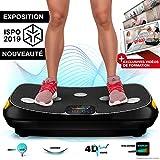 Sportstech VP400 Plateforme Vibrante Oscillante professionnelle Fitness avec...