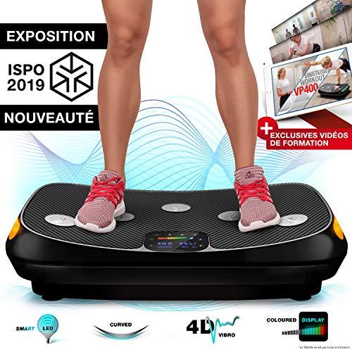 Sportstech VP400 Plateforme Vibrante Oscillante professionnelle Fitness avec technologie de...