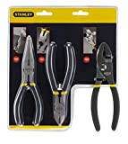 STANLEY Pliers Set, Basic 6-Inch Slip Joint, 6-Inch Long Nose, 6-Inch Diagonal Set, 3 Piece (84-114)