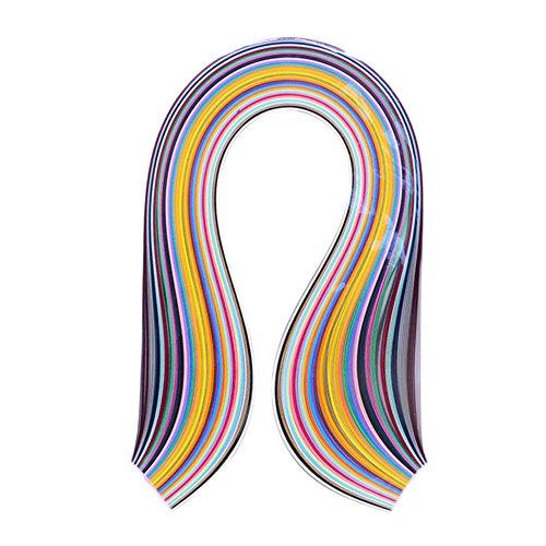 Hacoly 36 Farbe Quilling Papier Insgesamt 180 Papierstreifen Quillingstreifen für fröbelsterne 10mm*54cm Papierbreite Kunst Streifen lucky star für Basteln DIY Fröbelsterne Origami