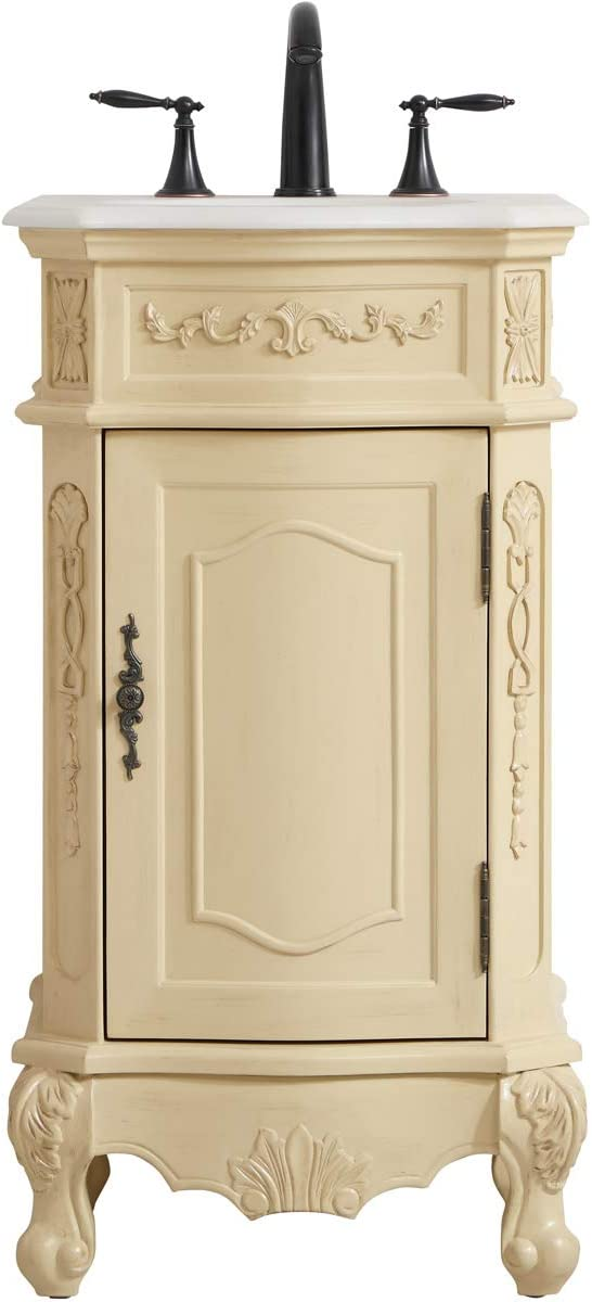 Elegant Decor 19 inch Single Bathroom Vanity in Antique Be Light Max Directly managed store 48% OFF