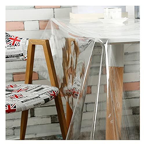 HJGHY Mantel Transparente Rectangular Mantel Transparente PVC Protector Mesa Escritorio Transparente Impermeable Resistente Al Aceite Grosor 1mm para Mesa Cocina,60 x 120 Inch(152x305cm)