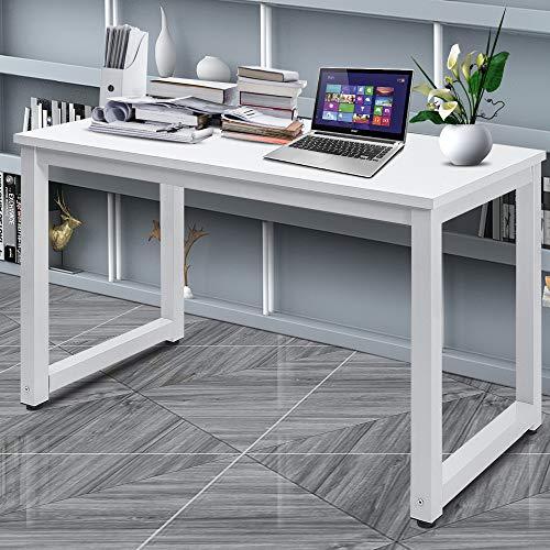 Daverose Schreibtisch 120x60x75cm Arbeitstisch Computertisch (Weiß)