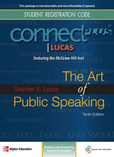 Connect Plus Public Speaking 1 Semester Access Card for The Art of Public Speaking (McGraw-Hill Connect Plus)