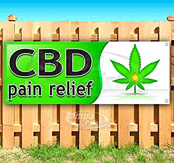 CBD Pain Relief 13 oz Banner Heavy-Duty Vinyl Single-Sided with Metal Grommets