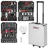 TecTake 577 pièces Mallette à outils trolley valise boite à tire caisse aluminium...