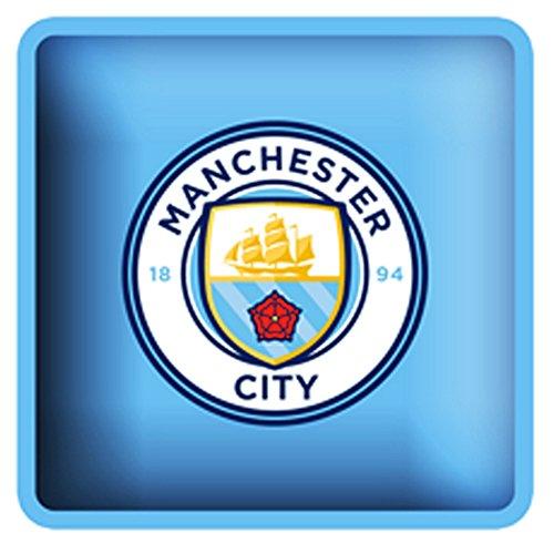 Manchester City FC - Cojín Cuadrado Oficial de Manchester City FC (One Size) (Azul Cielo)