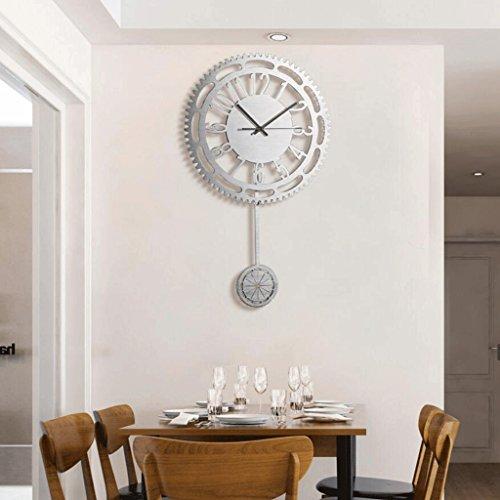 Horloges GAOLILI Murale de Mode créative Swinging Clock à Quartz de Salon