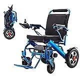 MJY Silla de ruedas portátil plegable, silla de ruedas eléctrica plegable de doble función ligera, conducir con energía eléctrica o usar como silla de ruedas manual