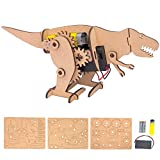 Dino Bot - DIY Motorized Robot Craft Kit Made from Laser Cut Wood - Engineering Toy for Kids and Adults, Ages 12+