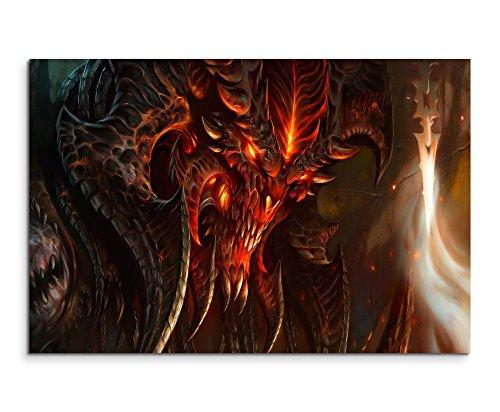 Diablo 3 Art Wandbild 120x80cm XXL Bilder und Kunstdrucke auf Leinwand