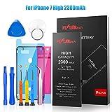 FLYLINKTECH Batteria per iPhone 7 Alta Capacità 2300mAh Batteria Interna di Ricambio in Li-ion, Strumenti di Riparazione Completi con Kit Sostituzione, Cacciavite Strumenti e Adesivo