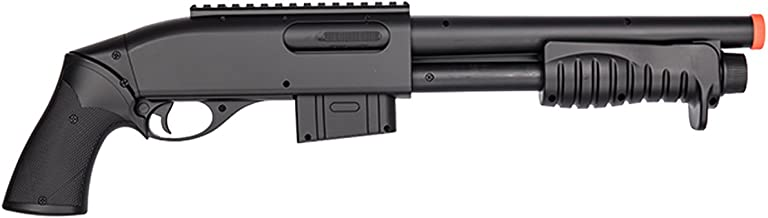 Double Eagle 350 FPS M401 Pump Action Spring Powered Airsoft Shotgun w/ 6mm BBS