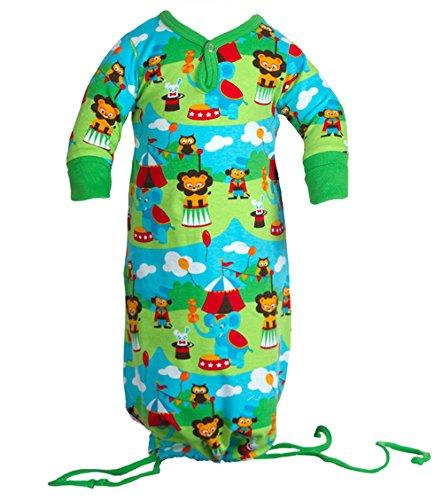 jny Colourful Kids – Baby fille garçon gigoteuse gigoteuse Lion Circus en coton bio