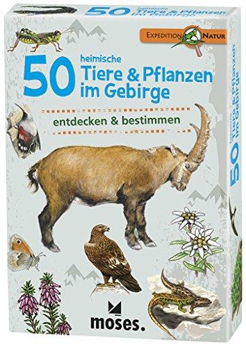 moses. 9762 Expedition Natur 50 heimische Tiere und Pflanzen im Gebirge| Bestimmungskarten im Set | Mit spannenden Quizfragen