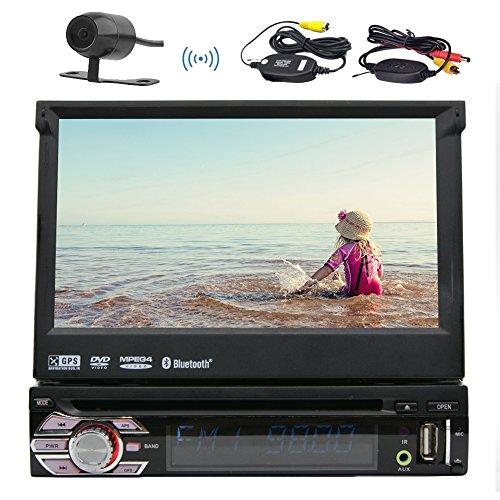 Nel cruscotto 7inch singolo DIN Radio autoradio di Windows Sistema Operativo Camera 1 DIN Autoradio Bluetooth include il lettore DVD GPS sistema di navigazione satellitare 8GB di GPS dell'automobile di sostegno SD USB Aux FM AM RDS Ricevitore Headunit