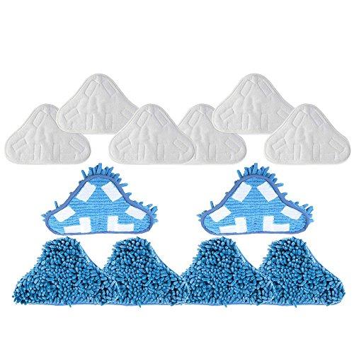 Mumaxun Baumwollmusselin Ersatz Mop Pads für H2O Dampfreiniger X5H20(6x Microfaser Pads + 6x Coral Microfaser Pads)