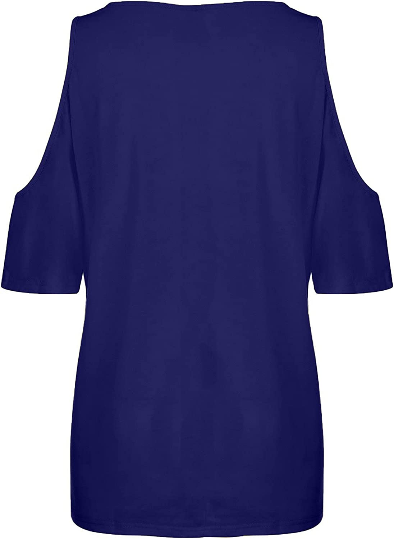 GOODTRADE8 Fashion Women Printing Crew Neck T-Shirt Short Sleeve Casual Tee Tops Blouse Summer Tops Tee Shirts Blouse
