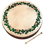 Waltons Bodhrán 12' Shamrock - Handcrafted Irish Instrument - Crisp & Musical Tone - Hardwood Beater Included w/Purchase
