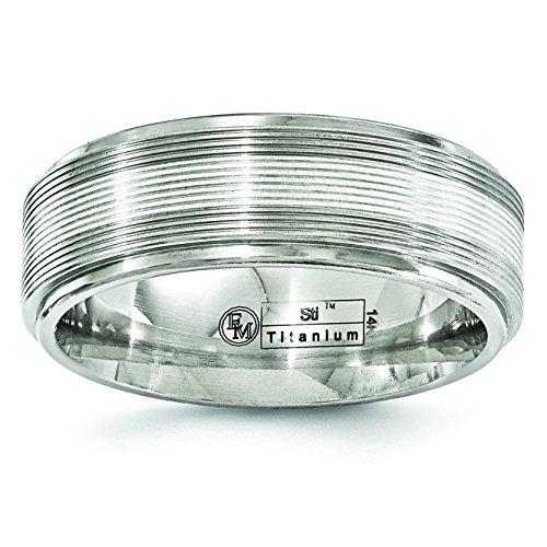 Diamond2Deal - Alianza de boda para mujer, titanio y oro bla