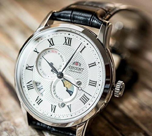 Orient Herren Analog Automatik Uhr mit Leder Armband FAK00002S0 - 5