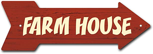 SignMission Farm House Arrow Sign | Indoor/Outdoor | Direction Arrow Sign Funny Home Décor for Garages, Living Rooms, Bedroom, Offices Personalized Gift | 18