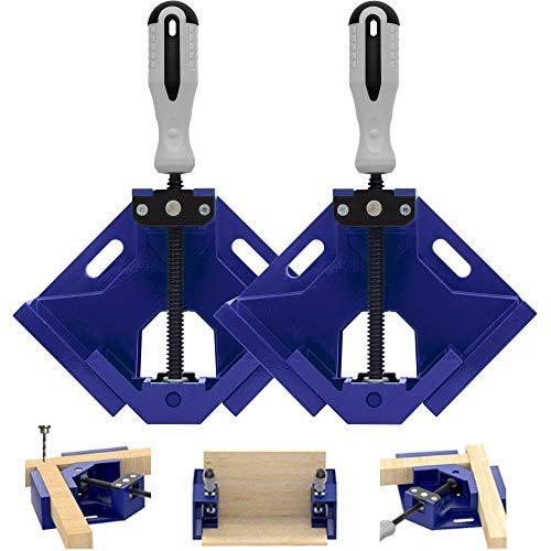 Mayline Winkelklemme aus Holz, rechts, 90 Grad Positionshalter, verstellbare Gehrung, Holzbearbeitungsklemmen für Bilderrahmen, Kisten, Türen, Schubladen, Tischler, schnell und arbeitssparend (BLU2)