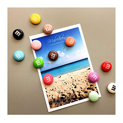 JSJJARF Imán de Nevera Candy Color Color Candy Iman De Frigorífico Foto Fondo Lindo Recuerdo Regalos Inicio Refrigeradores Decoración Pegatina Magnética (Color : 5 PCS Random)
