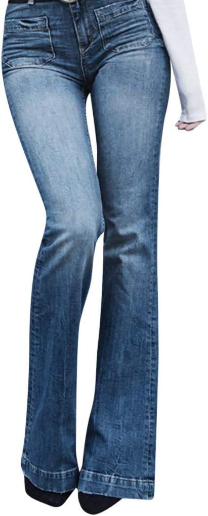 Pantalones Vaqueros Para Mujer De Otono Elasticos Y Sueltos De Mezclilla Con Bolsillo Casual Para Corte De Botas Pantalones Vaqueros Para Adolescentes Y Ninas Amazon Com Mx Ropa Zapatos Y Accesorios