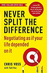 Cover of Never Split the Difference by Chris Voss, Tahl Raz