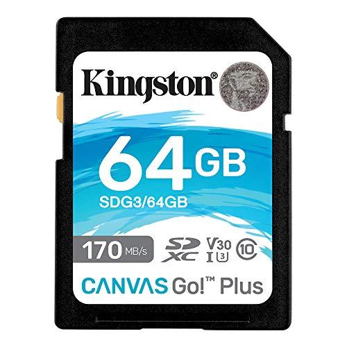 キングストン SDXCカード 64GB 最大170MB/s Class10 UHS-I U3 V30 4K Canvas Go! Plus SDG3/64GB