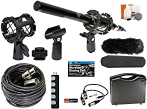Professional Advanced Broadcast Microphone and Accessories Kit for Canon EOS DSLR 5D Mark II III 6D 7D 7D II 77D 80D 70D 6...