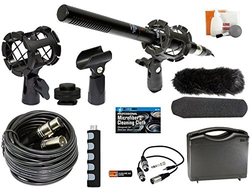 Professional Advanced Broadcast Microphone and Accessories Kit for Canon EOS DSLR 5D Mark II III 6D 7D 7D II 77D 80D 70D 60D T6s T8i T7i T6i T5i T4i SL1 Cameras