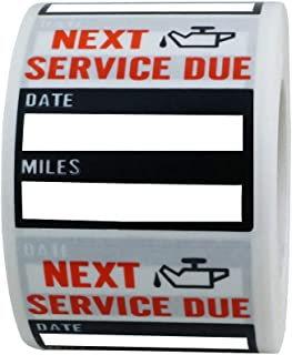 Hybsk Clear Oil Change/Service Reminder Stickers 2